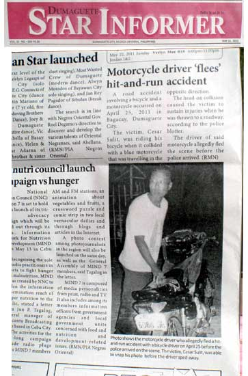 Star Informer Daily Front page