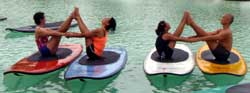 SUP Yoga with Jeanne Torrefranca at Plantation Bay