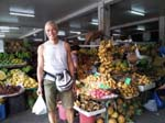 at the fruit market in Dumaguete