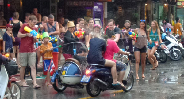 Songkran Waterfight Festival in Chiang Mai