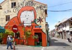 Malacca's street art is closely patterned after Penang