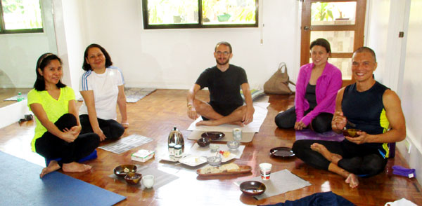 Conducting a Half-Day Yoga, Pranayama and Meditation Workshop in Makati