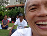Laughter Yoga with Kadek Suambara at Ambar Ashram