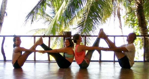 Yoga with Ging and Rai at Oasis Resort