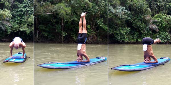 Loboc River SUP yoga