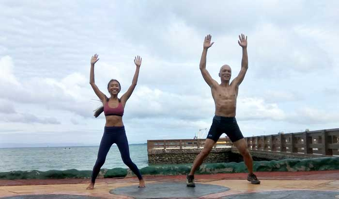 Fitness Workout with Chie at Bohol Tropics Resort