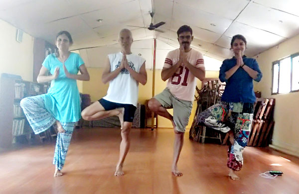 Conducting Yoga Classes at Pema Thang Guest House, Dharamshala, India