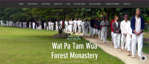 proposed homepage for Wat Pa Tam Wua