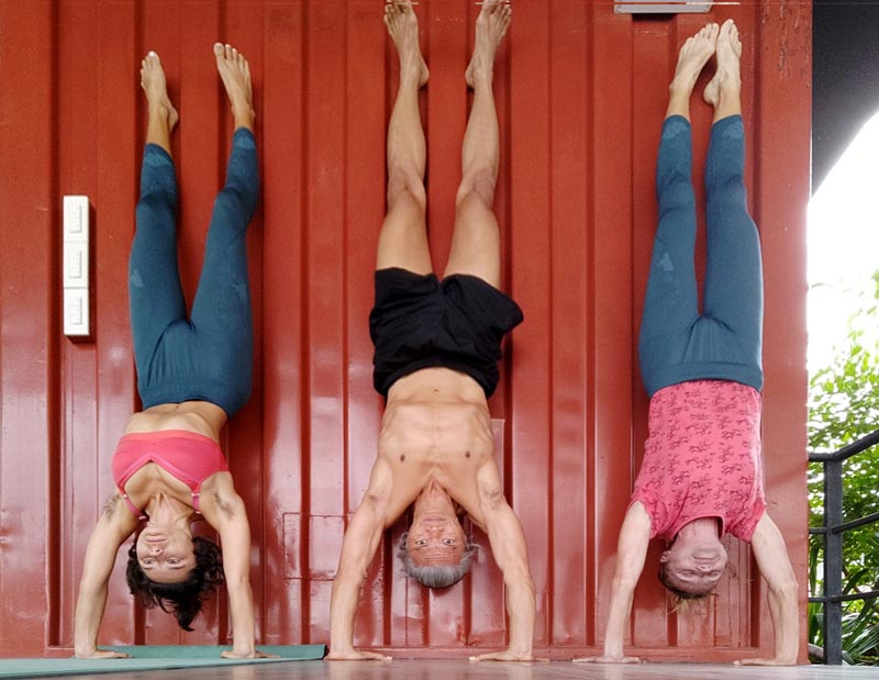 Wall-Supported Handstand