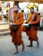 Alms-Round (Sai Bat) with the Buddhist Monks of Chiang Khan