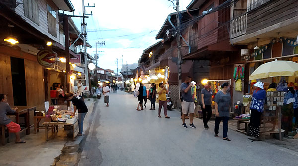Rummaging Through the Walking Street of Chiang Khan, Loei
